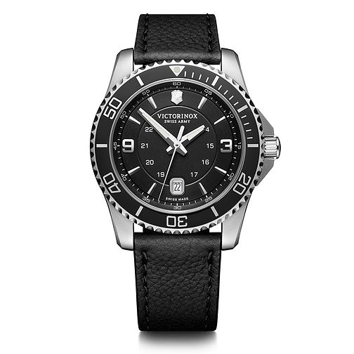 Victorinox Maverick Men's Black Leather Strap Watch - Product number 5868025