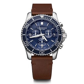 Victorinox Maverick Men's Brown Leather Strap Watch - Product number 5868033
