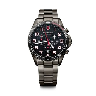 Victorinox Fieldforce Sport Men's Black PVD Bracelet Watch - Product number 5868041