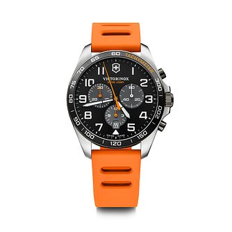 Victorinox Fieldforce Sport Men's Orange Rubber Strap Watch - Product number 5868068