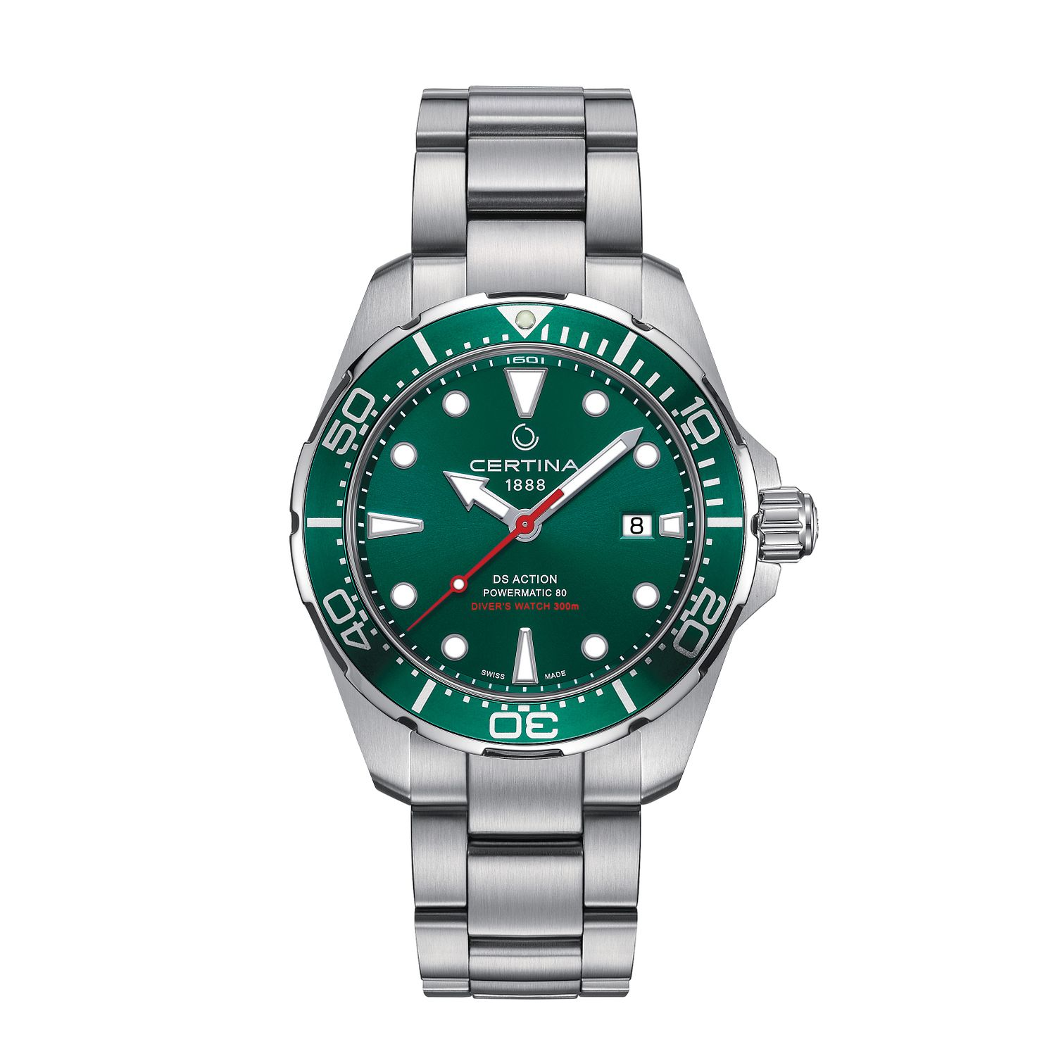 Certina Ds Action Powermatic 80 Men's Green Dial Watch - Product number 5868327