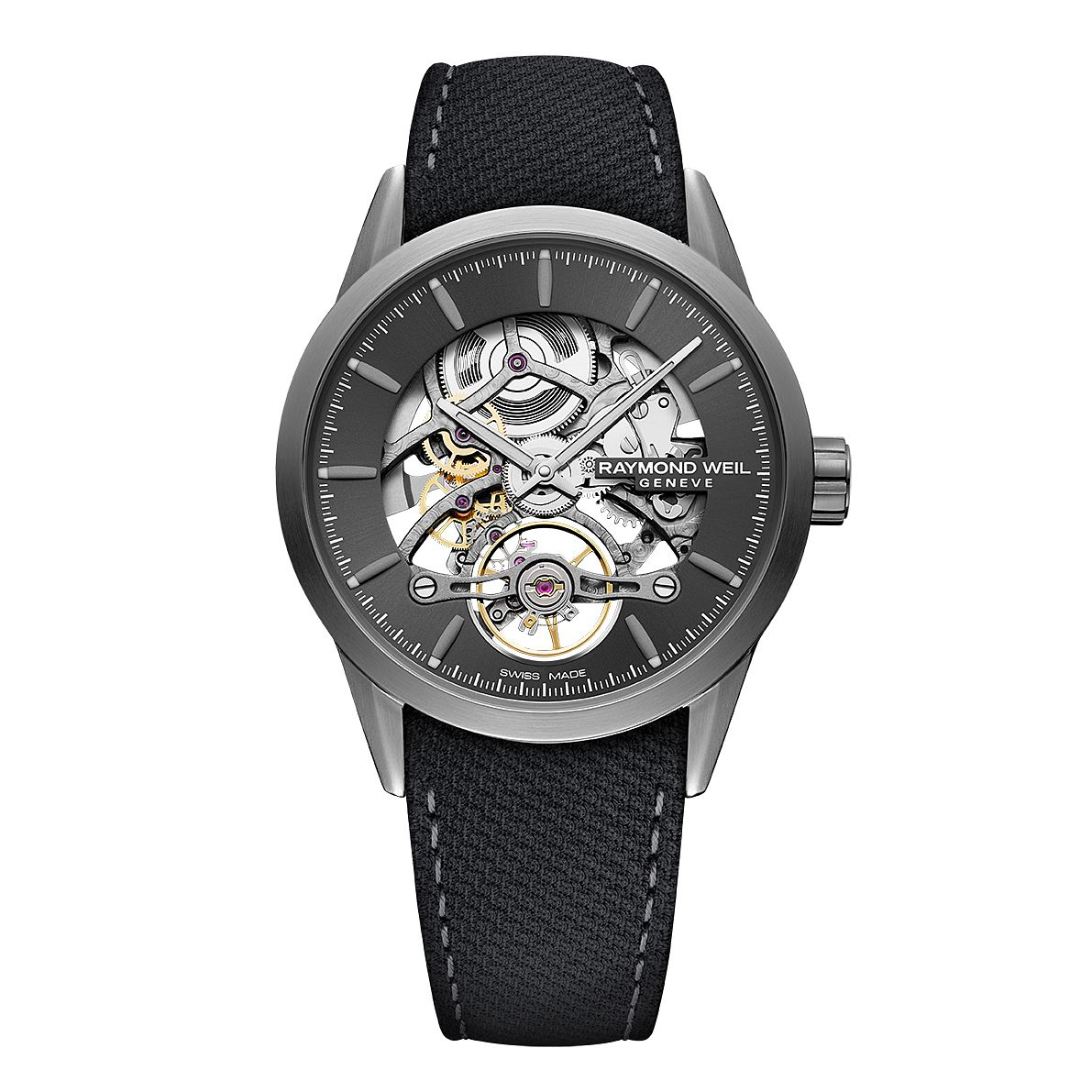 Raymond Weil Freelancer Men's Black Leather Strap Watch - Product number 5868351