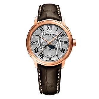 Raymond Weil Maestro Men's Brown Leather Strap Watch - Product number 5868394