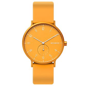 Skagen Aaren Kulor Yellow Silicone Strap Watch - Product number 5870151