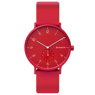 Skagen Aaren Kulor Red Silicone Strap Watch - Product number 5870178
