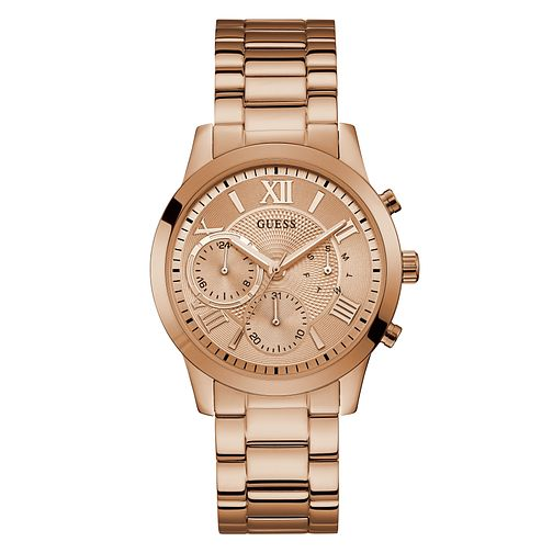 Guess Solar Ladies' Rose Gold Tone Bracelet Watch - Product number 5870402