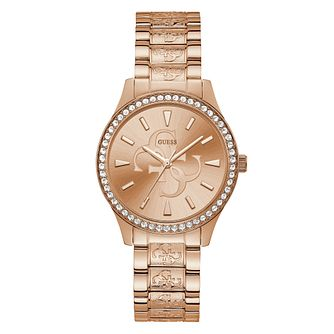 Guess Anna Ladies' Rose Gold Tone Bracelet Watch - Product number 5870437