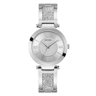 Guess Aurora Ladies' Stainless Steel Glitz Bracelet Watch - Product number 5870453