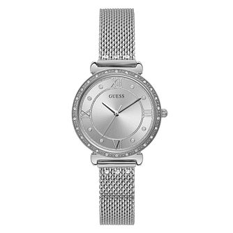Guess Jewel Ladies' Stainless Steel Mesh Bracelet Watch - Product number 5870488