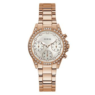 Guess Gemini Ladies' Rose Gold Tone Bracelet Watch - Product number 5870542