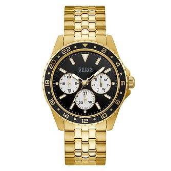 Guess Odyssey Men's Yellow Gold Tone Bracelet Watch - Product number 5870577