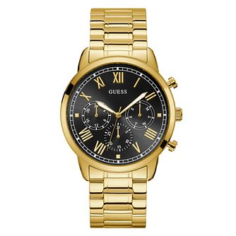 Guess Hendrix Men's Yellow Gold Tone Bracelet Watch - Product number 5870682