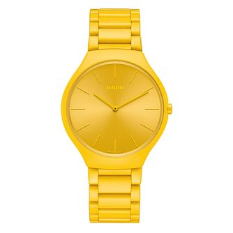 Rado True Thinline Les Couleurs Le Corbusier Yellow Watch - Product number 5870755