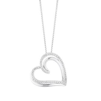 Sterling Silver 0.12ct Diamond Heart Pendant - Product number 5874246