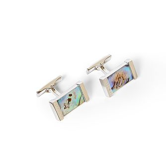 Ted Baker Semi-Precious Silver Tone Cufflinks - Product number 5874416