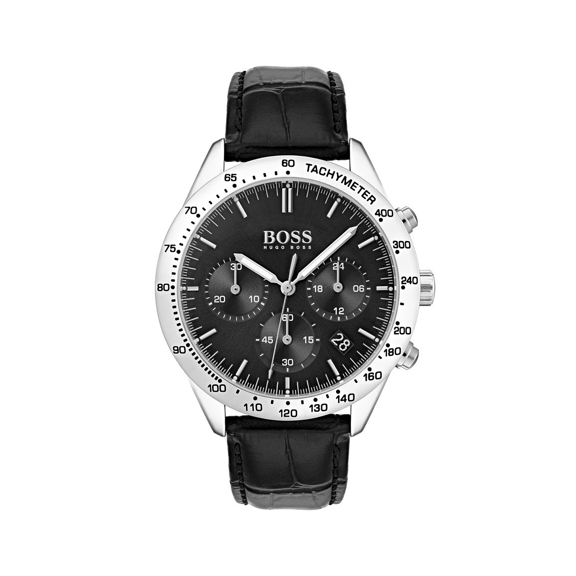 BOSS Talent Men's Black Leather Strap Watch - Product number 5876532