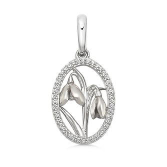 Links Of London Silver & White Topaz Snowdrop Wildlife Charm - Product number 5879612