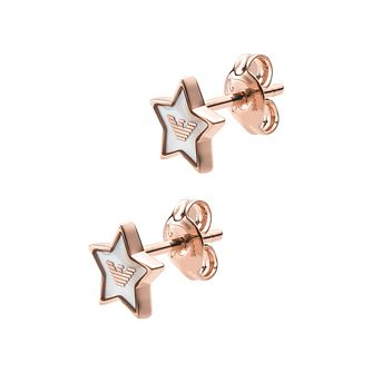 Emporio Armani Gold Tone Astrology Star Stud Earrings - Product number 5885914