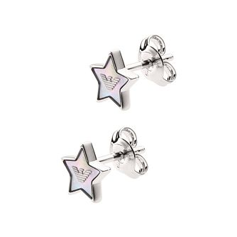 Emporio Armani Silver Astrology Star Stud Earrings - Product number 5885957