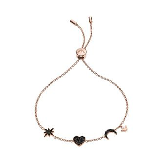 Emporio Armani Rose Gold Tone Black Trio Charm Bracelet - Product number 5886066