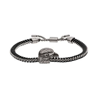 Emporio Armani Men's Leather & Stainless Steel Bracelet - Product number 5886341