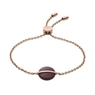 Skagen Sea Glass & Rose Gold Tone Round Bracelet - Product number 5886570