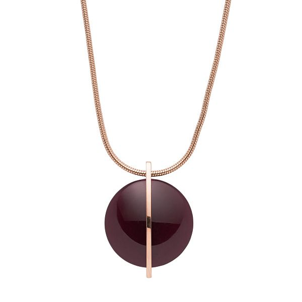 Skagen Sea Glass & Rose Gold Tone Round Necklace - Product number 5886600