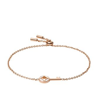 Fossil Mother of Pearl Key Rose Gold Tone Bracelet - Product number 5887089