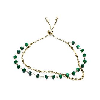 Fossil Gold and Malachite Stone Women's Bracelet - Product number 5887100