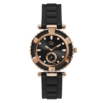 Gc Ladydiver Ladies' Black Silicone Strap Watch - Product number 5887569