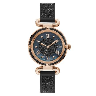 Gc CableChic Crystal Ladies' Black Silicone Strap Watch - Product number 5887585