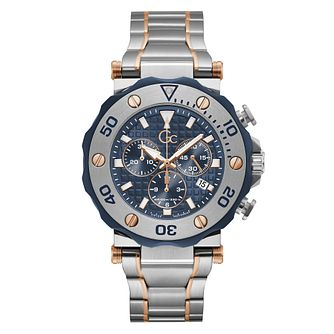 Gc Divercode Chronograph Men's Two Tone Bracelet Watch - Product number 5887623