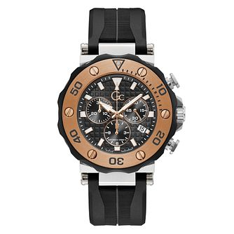 Gc Divercode Chronograph Men's Black Silicone Strap Watch - Product number 5887666