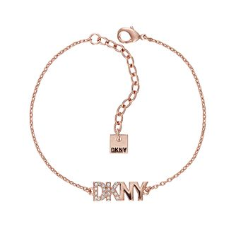 DKNY New York Rose Gold Plated Swarovski Crystal Bracelet - Product number 5888549