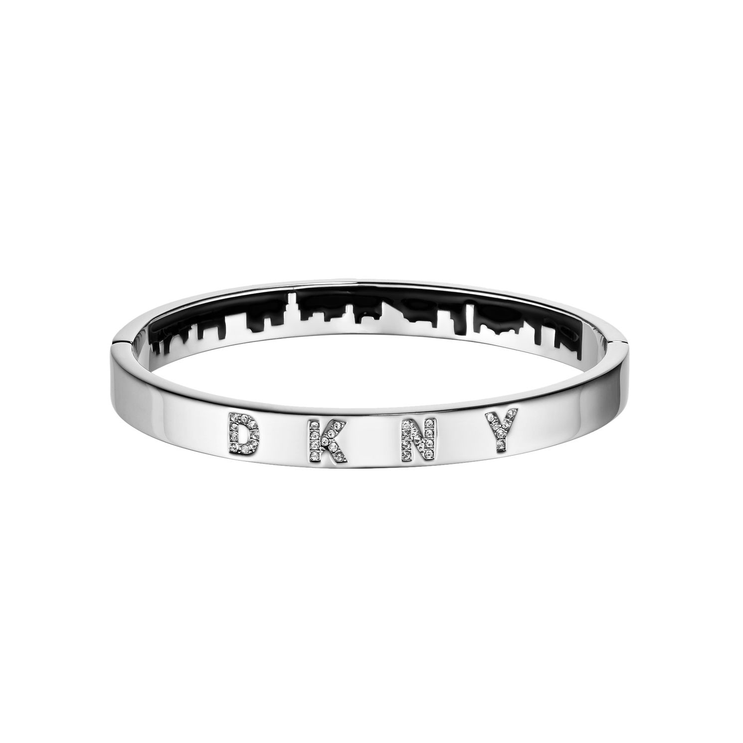DKNY Skyline Rhodium Plated Swarovski Crystal Bracelet - Product number 5888557