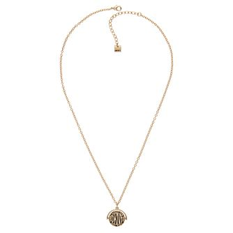 DKNY Spinner Token Logo Yellow Gold Plated Crystal Pendant - Product number 5888980