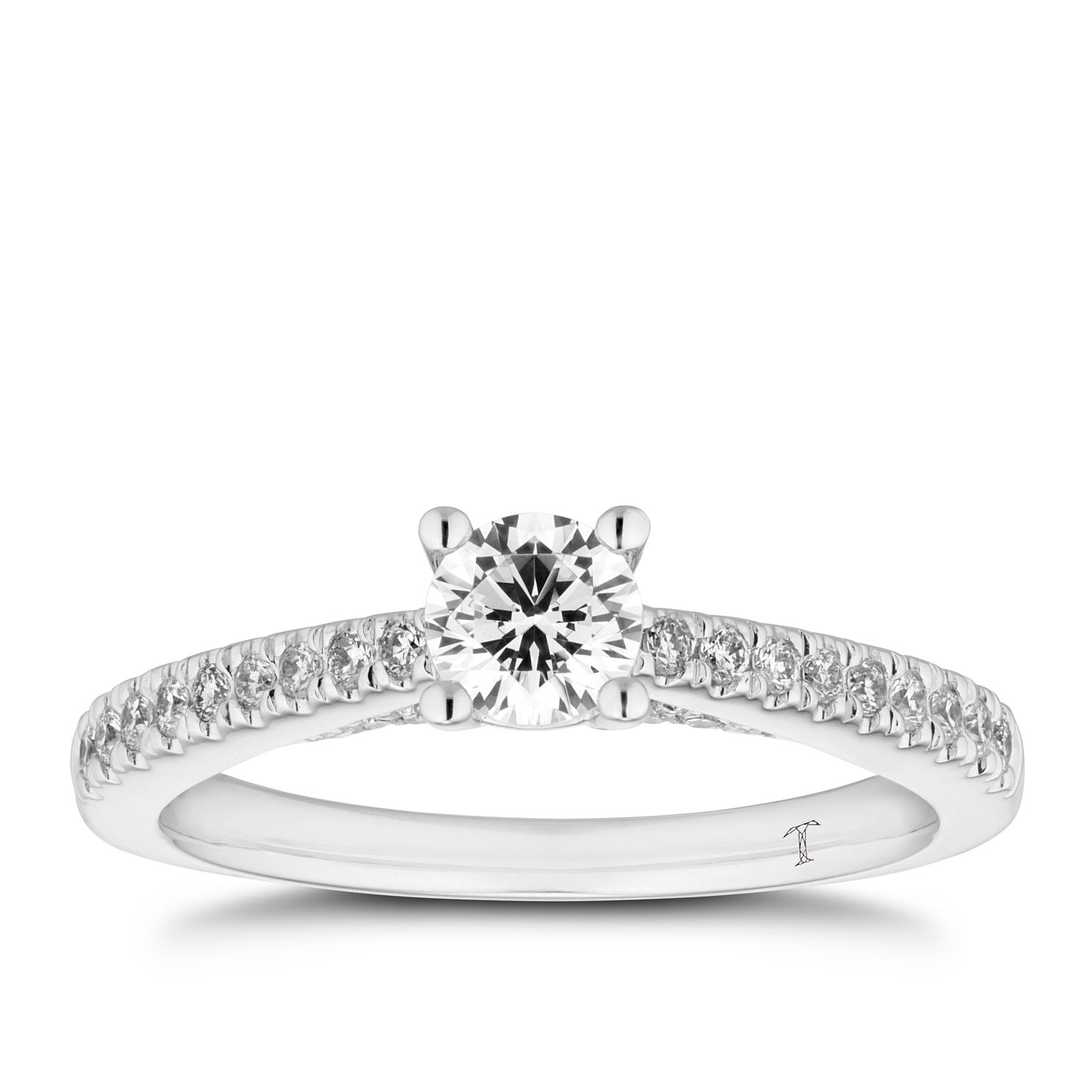 Tolkowsky 18ct White Gold 1/2ct Diamond Solitaire Ring - Product number 5889596