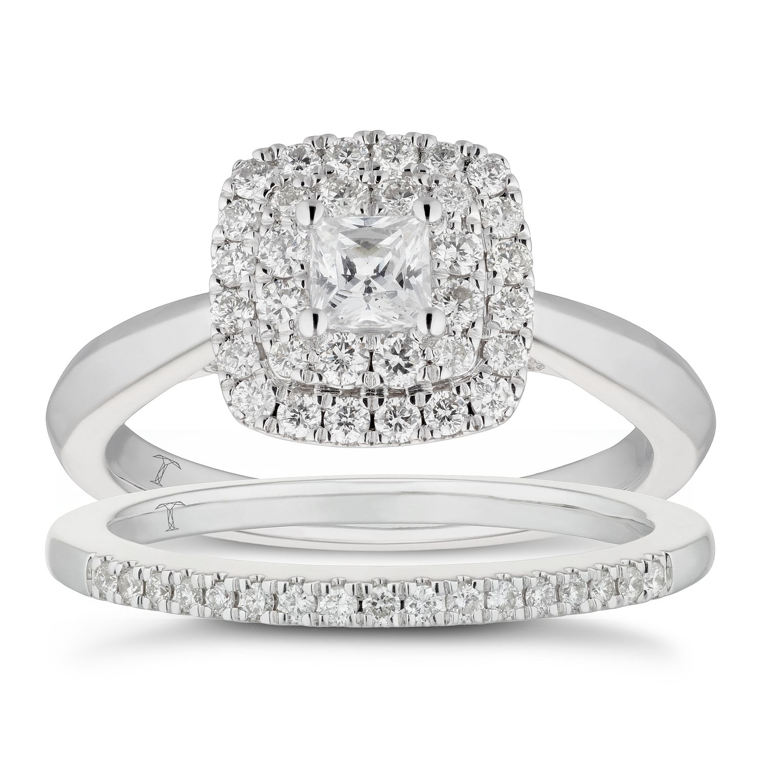 Tolkowsky 18ct White Gold 0.75ct Total Diamond Bridal Set - Product number 5894875