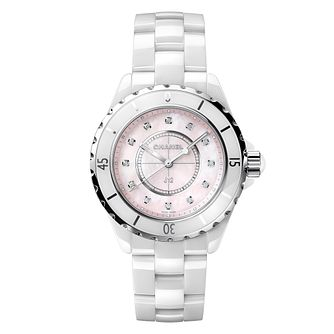 Chanel J12 Ladies' Ceramic Diamond Mother of Pearl Watch - Product number 5904994