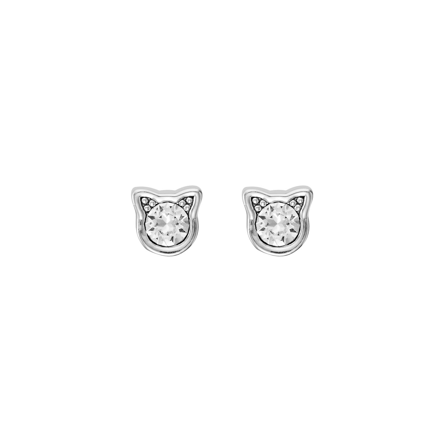 Karl Lagerfeld Rhodium Plated Mini Choupette Stud Earrings - Product number 5907292