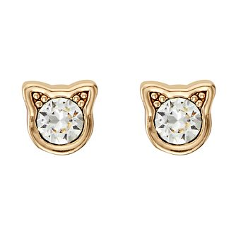 Karl Lagerfeld Gold Tone Mini Choupette Stud Earrings - Product number 5907799