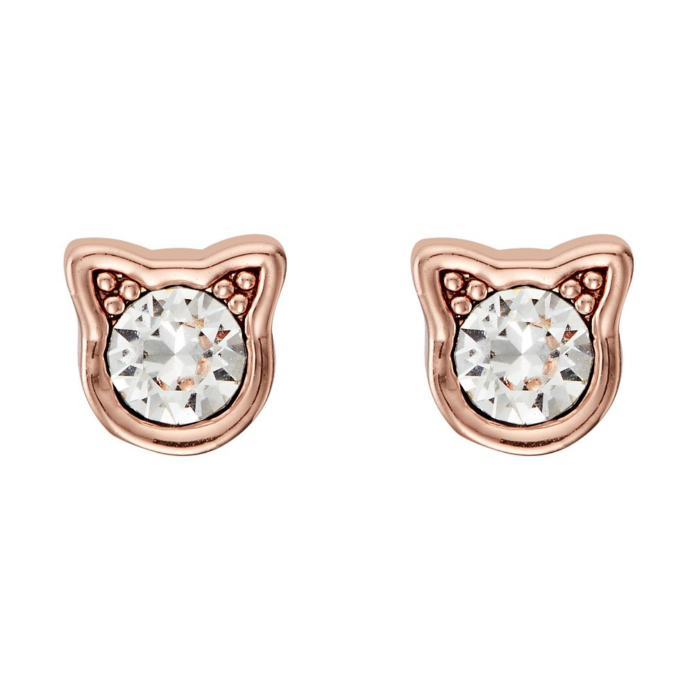 Karl Lagerfeld Rose Gold Tone Mini Choupette Stud Earrings - Product number 5907942