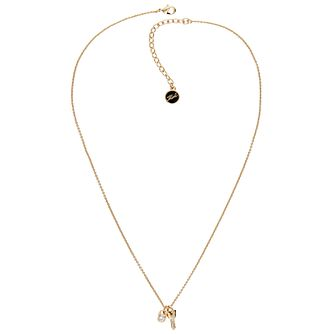 Karl Lagerfeld Gold Tone Lock & Key Pendant - Product number 5908167