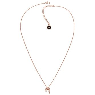 Karl Lagerfeld Rose Gold Tone Lock & Key Pendant - Product number 5908604