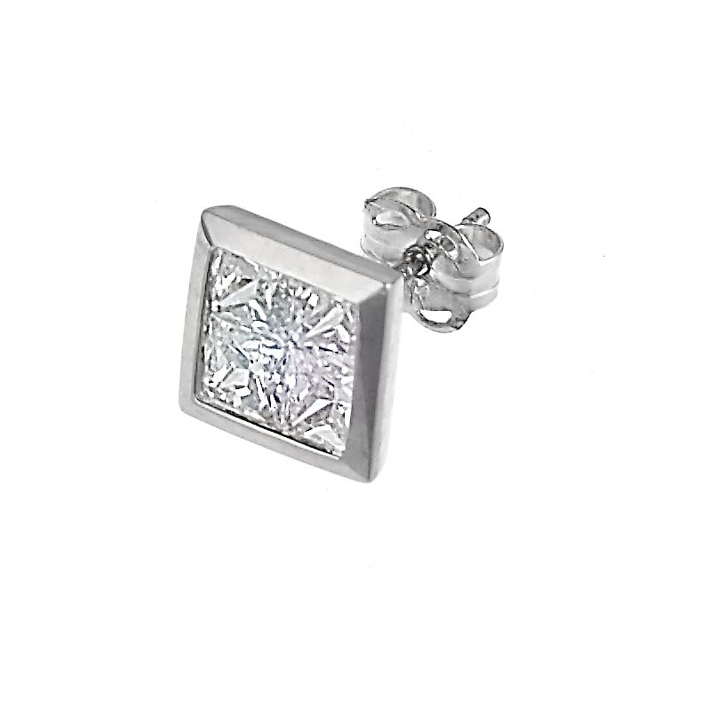 9ct White Gold Single Earring - Product number 5908922