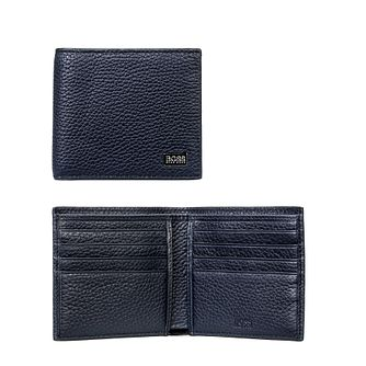 BOSS Crosstown Men's Blue Leather Wallet - Product number 5911125