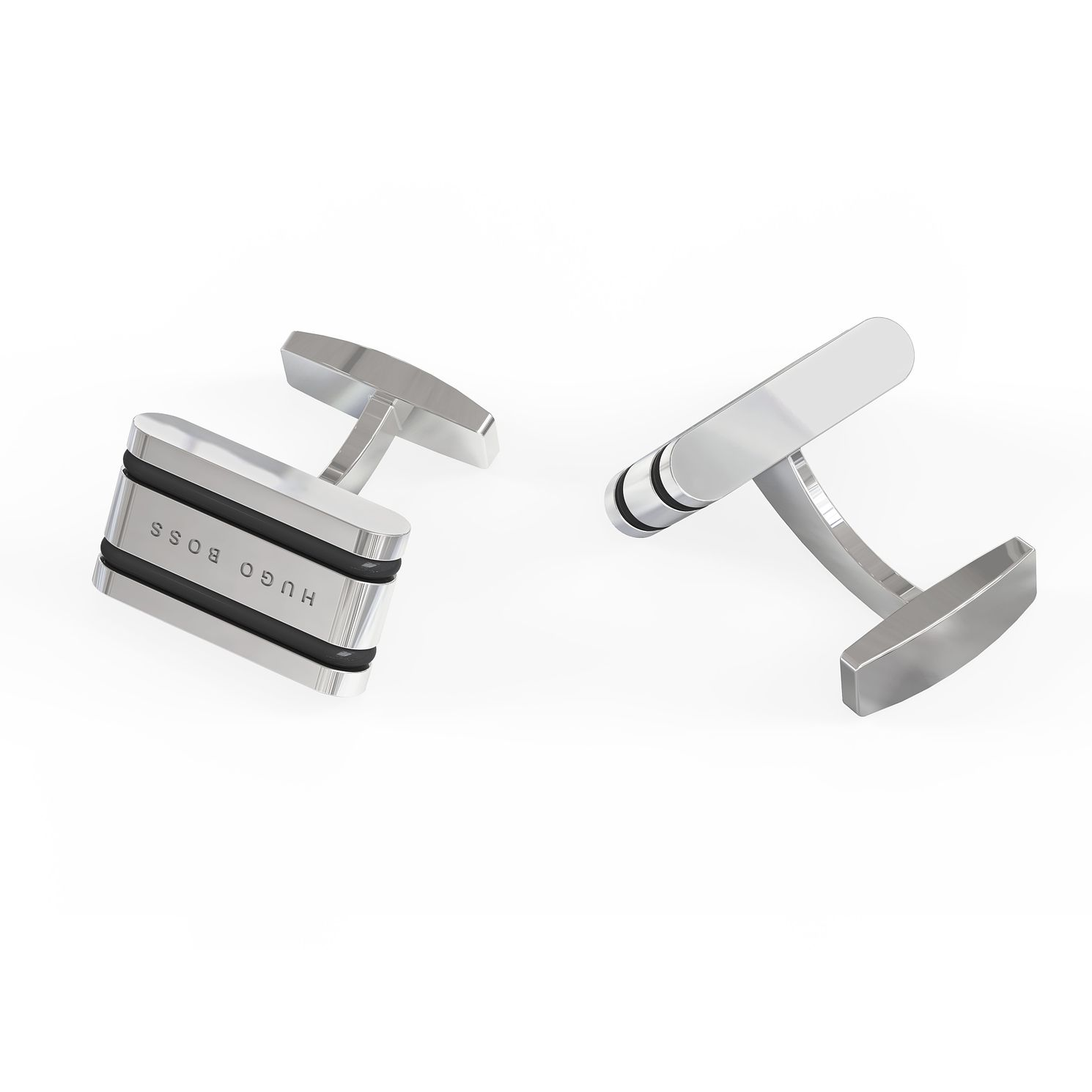 BOSS Albi Men's Brass & Black Enamel Cufflinks - Product number 5911311