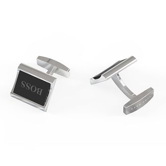 BOSS Igor Men's Black Enamel Cufflinks - Product number 5912075