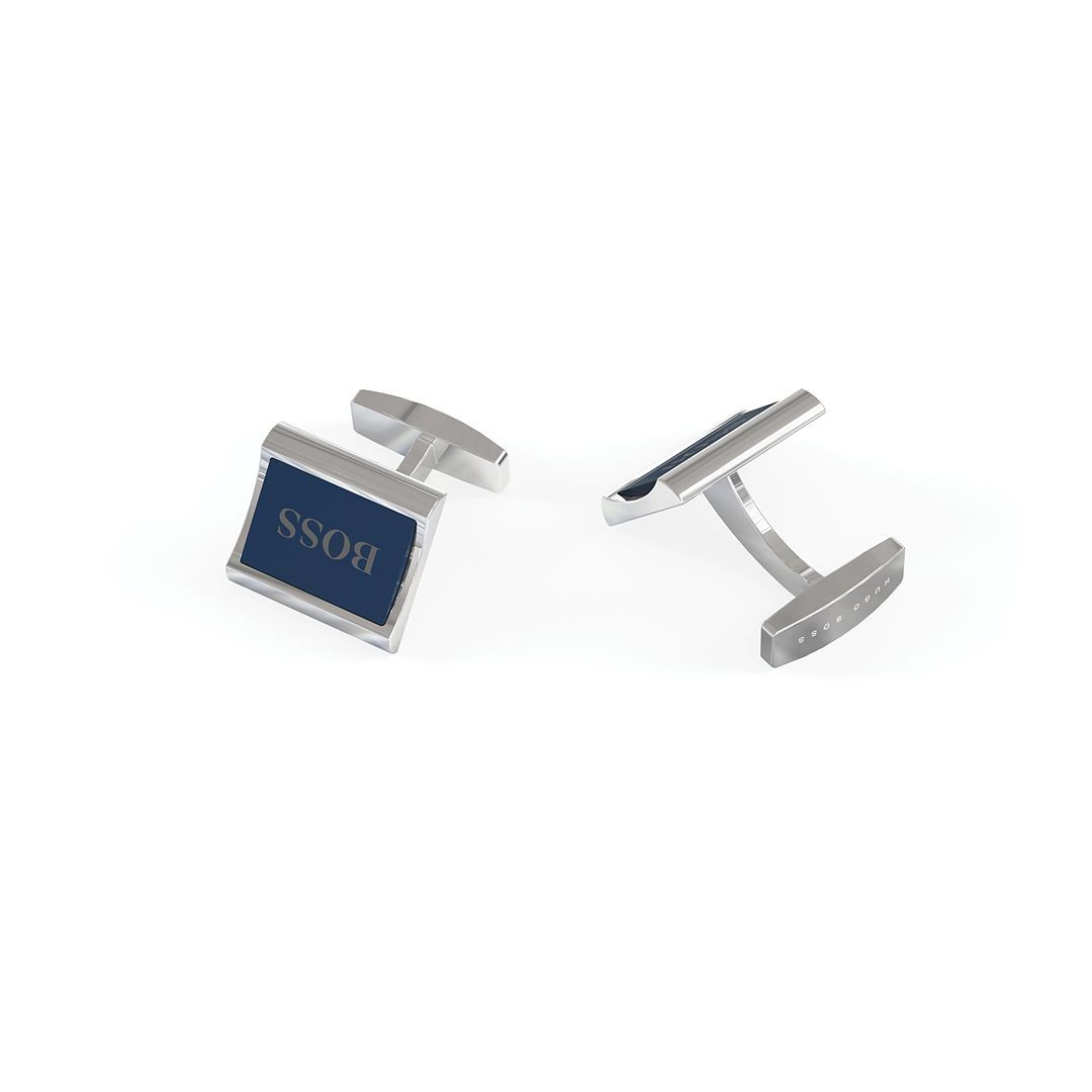 BOSS Igor Men's Blue Enamel Cufflinks - Product number 5912083