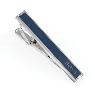 BOSS Gregor Men's Blue Enamel Tie Bar - Product number 5912113